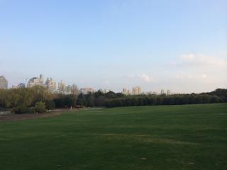 上海浦東の世紀公園にて
