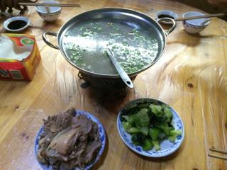 上海の山羊料理