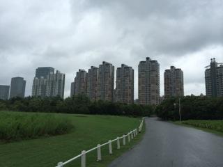 台風の空模様