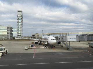 関西空港にて