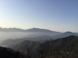 浙江省安吉の山並み