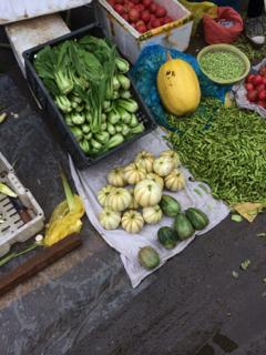 上海崇明島の市場にて