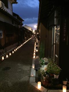 奈良橿原今井町の灯火会