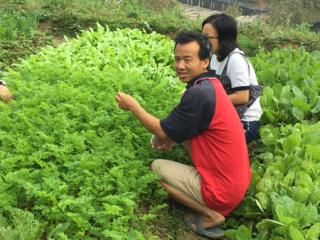 湖南省懐化の農家、楊さんと一緒に