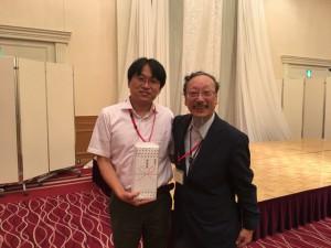 日本中医学会の平馬会長と記念写真