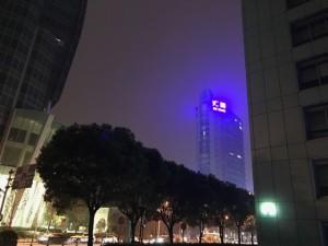 上海のスモッグの夜