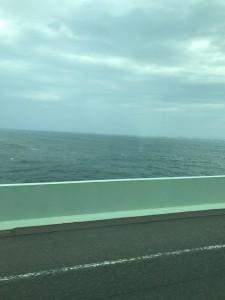 横風の強かった関空連絡橋