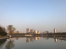 上海浦東新区にて