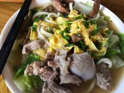 浙江省潘周家の手作り麺