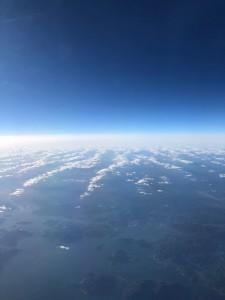 瀬戸内海上空